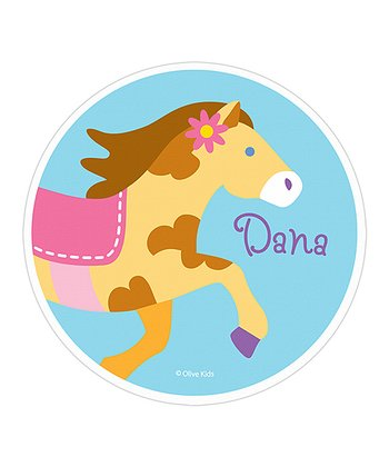 Pony Personalized Fabric WallDotz Decal