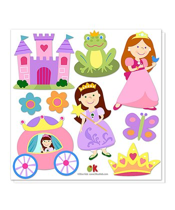 Princess Cutout Decal Set