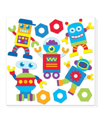 Robot Cutout Decal Set
