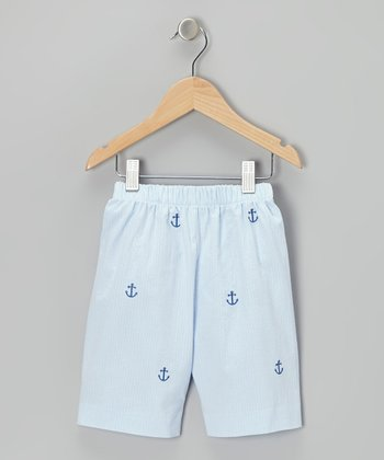 K&L Light Blue Anchor Shorts - Toddler & Boys