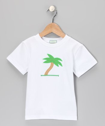 White Palm Tree Tee - Infant, Toddler & Boys