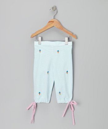 K&L Light Blue Ice Cream Seersucker Capris - Infant & Toddler