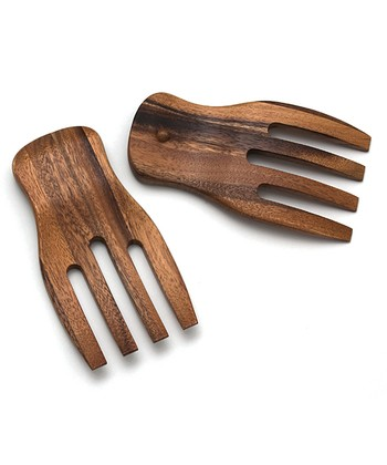 Acacia Salad Hand - Set of Two