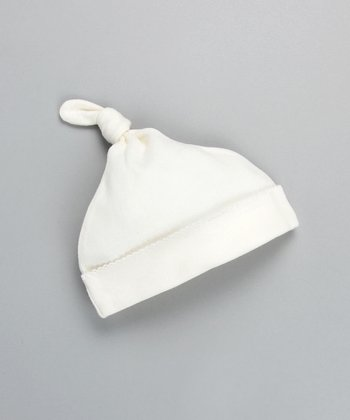 White Single-Knot Beanie