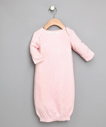 Light Pink Tiny Stripe Gown - Infant