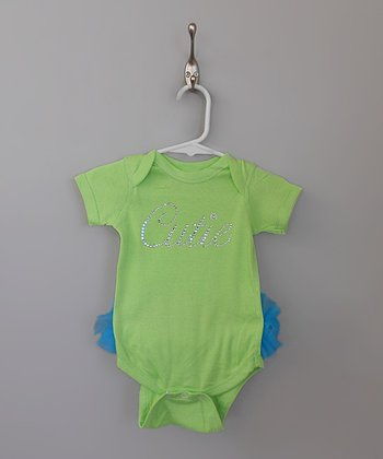 Lime Green 'Cutie' TuTushie Bodysuit - Infant