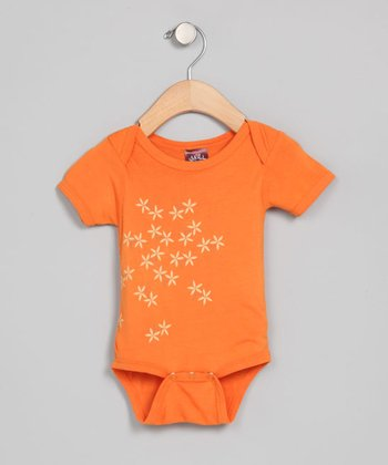 Pumpkin Flower Organic Bodysuit - Infant