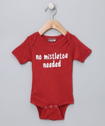 Berry 'No Mistletoe Needed' Organic Bodysuit - Infant