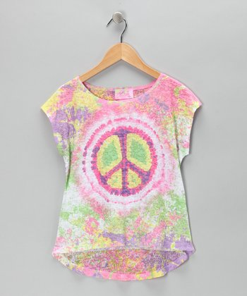 Rainbow Peace Tissue Top