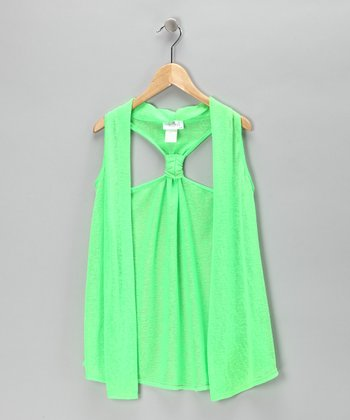 Green Apple Racerback Vest - Girls