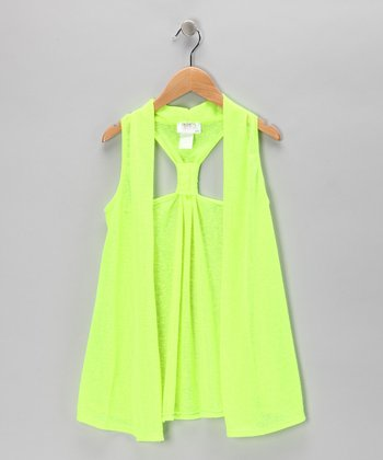 Lime Racerback Vest - Girls