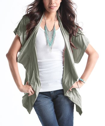 Sage Summer Maternity Cardigan