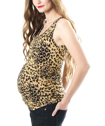 Cheetah Maternity Tank