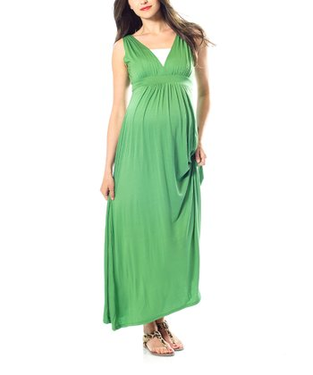 Apple Green Maternity Maxi Dress