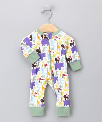 Green Safari Playsuit - Infant