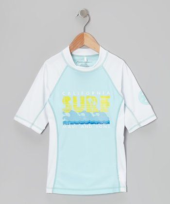 Light Blue Rashguard - Girls