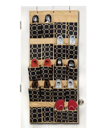 Black & Tan Hula Over-Door Shoe Organizer