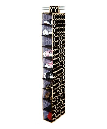 Black & Tan Hula Hanging Shoe Organizer