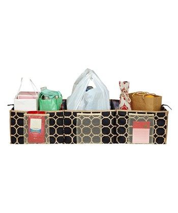 Hula Black & Tan Three-Compartment Trunk Organizer