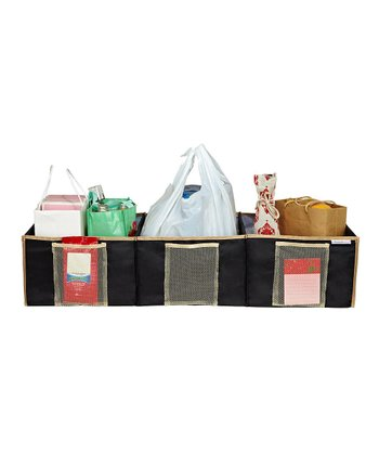 Black & Tan Three-Compartment Trunk Organizer