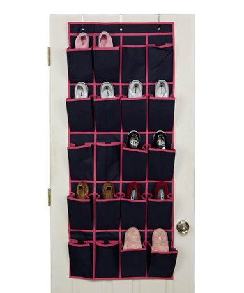 Navy & Fuchsia Over-Door Shoe Organizer
