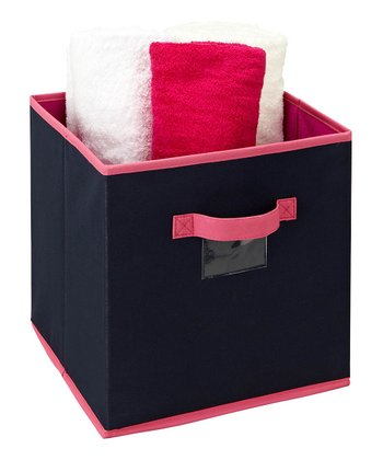 Navy & Fuchsia Medium Storage Cube