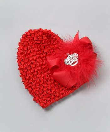 Red Bow Beanie - Infant