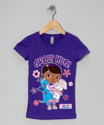 Purple Rush 'Group Hug!' Tee - Girls