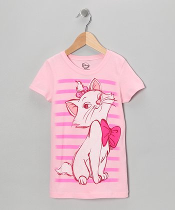 Light Pink Aristocat Marie Tee - Girls