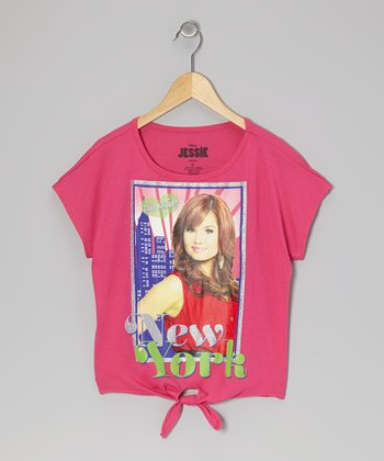 Hot Pink 'New York' Jessie Tee - Girls