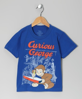 Royal Blue Curious George Tee - Toddler