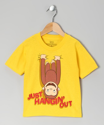 Yellow 'Just Hangin' Out' Curious George Tee - Toddler