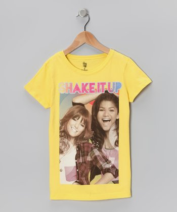 Yellow 'Shake It Up' Group Pose Tee - Girls
