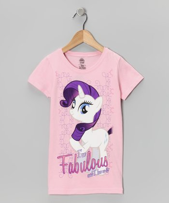 Light Pink 'Fabulous' My Little Pony Tee - Girls