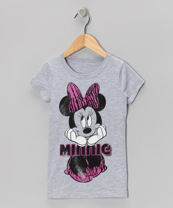 Gray & Pink 'Minnie' Tee - Girls