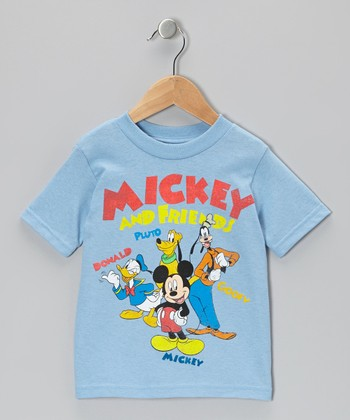 Light Blue Mickey & Friends Tee - Toddler
