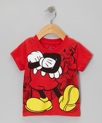 Red Mickey Headless Tee - Infant