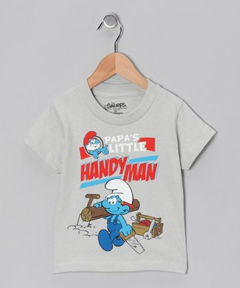 Silver 'Handy Man' Smurf Tee - Toddler