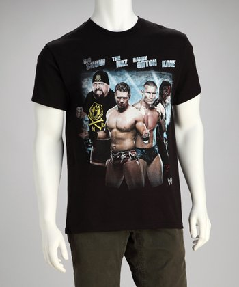 Black WWE Group Name Tee - Men