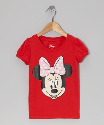 Red Minnie Face Tee - Infant & Toddler