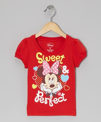 Red 'Sweet Perfect' Minnie Tee - Infant & Toddler