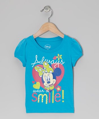 Blue 'Always Smile' Minnie Tee - Infant & Toddler