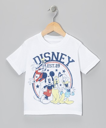 White Mickey 'Disney Est. 1929' Tee - Toddler