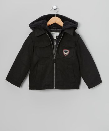 Black Single Jacket - Toddler & Boys