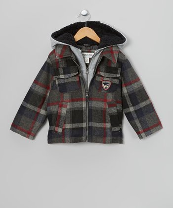 Gray Plaid Jacket - Toddler & Boys