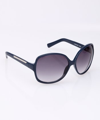 Navy Butterfly Sunglasses