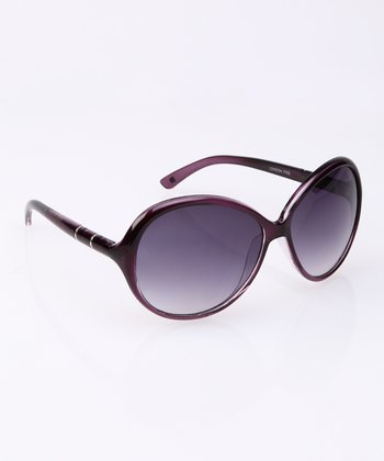 Purple Round Butterfly Sunglasses