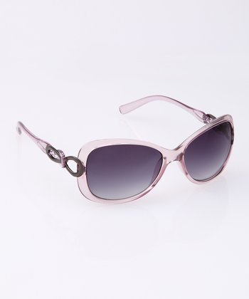 Purple Translucent Oval Sunglasses