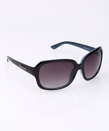 Navy Rectangle Sunglasses