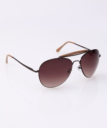 Brown Pilot Sunglasses